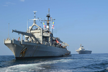 마지막 美 해군 도입 함정, '평택함' 퇴역식 거행