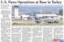 미, 터키 주재 공군기지 작전 감축