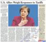 미 동맹국들, 미 관세조치 대응책 저울질 중