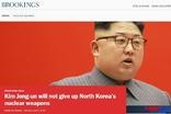 """""""김정은에게 핵 포기란 없을 것""""...미 브루킹스 연구소"""