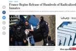 프랑스, 이슬람 급진주의자 수백명 수감자 석방 시작