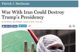 이란과의 전쟁, 트럼프 대통령 임기 끝장낼 수도
