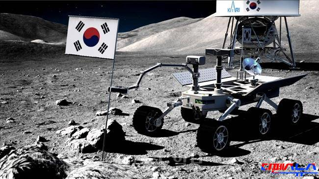 한국의 달 탐사 상상도
